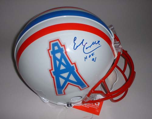 Earl Campbell Autographed Houston Oilers Riddell Full Size Authentic Helmet with