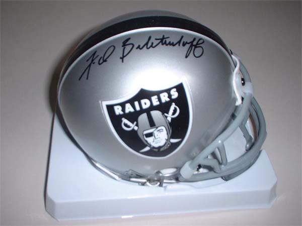 Fred Biletnikoff Autographed Oakland Raiders Riddell Mini Helmet