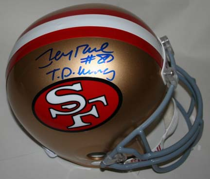 Jerry Rice Autographed San Francisco 49ers Riddell Full Size Replica Helmet with