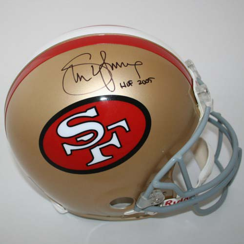 Steve Young Autographed San Francisco 49ers Riddell Throwback Full Size Authentic Helmet with