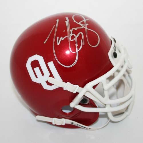 Tommie Harris Autographed Oklahoma Sooners Schutt Mini Helmet