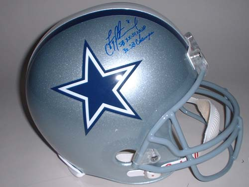 """Troy Aikman Autographed Dallas Cowboys Riddell Full Size Replica Helmet with """"Super Bowl XXVII MVP"""" and """""""