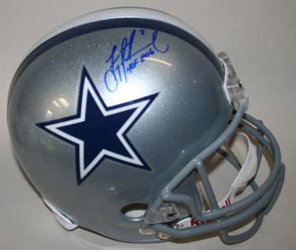Troy Aikman Autographed Dallas Cowboys Riddell Full Size Replica Helmet with