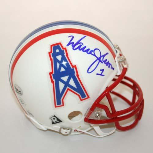 Warren Moon Autographed Houston Oilers Riddell Mini Helmet  (VC-VIC-000178-34312 7fcff0101