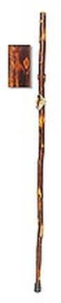 "59"" Hickory Hiking Staff - Tall (for people 5' 9"" - 6' 2"")"