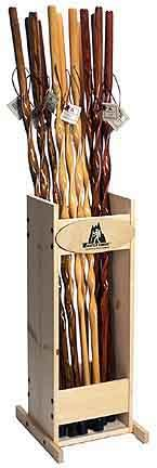 """55"""" Douglas Fir Discover Hiking Staff - Black Stain with Twist"""