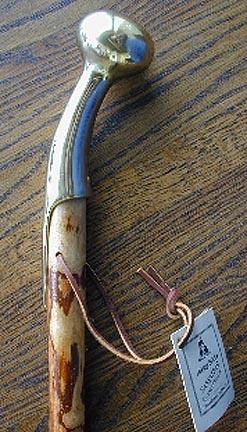 "37"" Sassafras Country Cane with Brass Handle"
