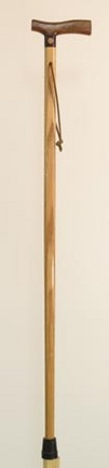 "American Craftsman 37"" Standard Walking Stick  - Oak and Walnut"