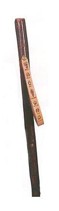 """54"""" Tracker Series™ Hickory Adult Hiking and Walking Stick with Paw Print Leather Strap"""