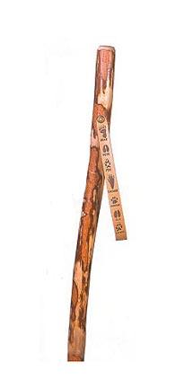 "48"" Tracker Series™ Sassafras ""Scout"" Hiking and Walking Stick with Paw Print Leather Strap"