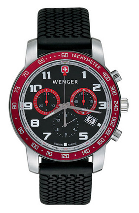 Alpine Swiss Rallye Men's Watch with Black and Red Dial from Wenger�