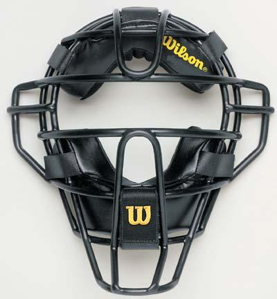 """Image of 10"""" Dyna-Lite Umpire Face Mask with Synthetic Padding from Wilson"""