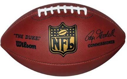 The DUKE F1100 Wilson® Official NFL® Leather Game Football (Commissioner Roger Goodell)