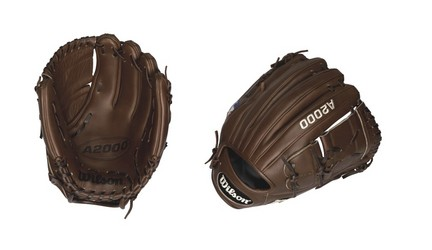 """Image of 11 3/4"""" A2000 Showcase 2-Piece Closed Web Infield / Pitcher Baseball Glove (Worn on Left Hand)"""