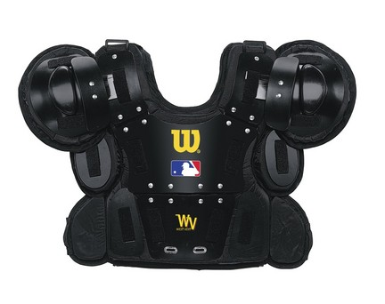 """Image of 12"""" Professional Gold Chest Protector from Wilson"""