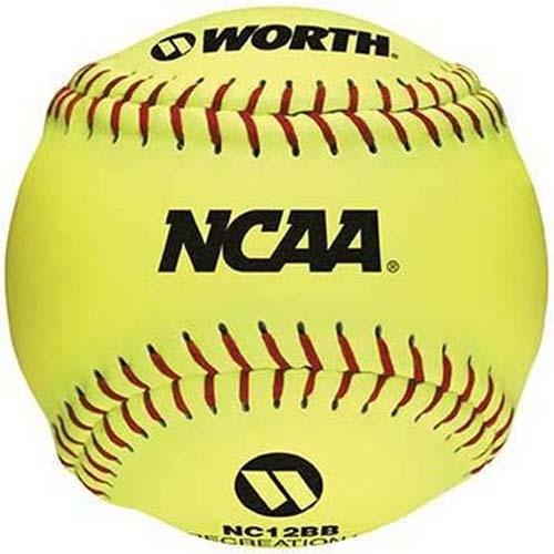 12 NCAA Recreational Softballs from Worth  1 Dozen