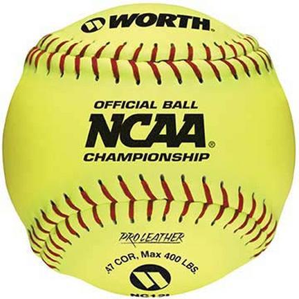 12 NCAA Official Championship Softballs from Worth  1 Dozen