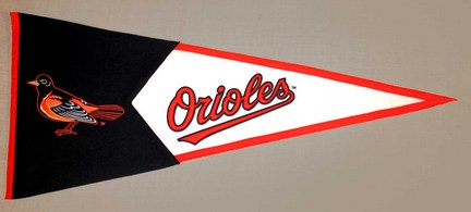 Baltimore Orioles MLB Classic Collection Pennant from Winning Streak Sports