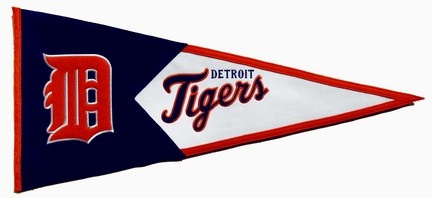 Detroit Tigers MLB Classic Collection Pennant from Winning Streak Sports