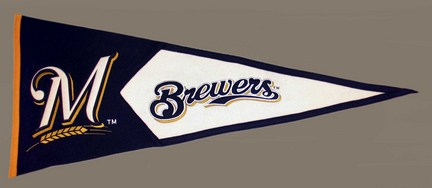 Milwaukee Brewers 2001 MLB Classic Collection Pennant from Winning Streak Sports