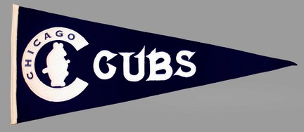 Chicago Cubs MLB Cooperstown Collection Pennant from Winning Streak Sports