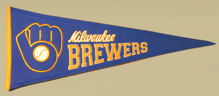 Milwaukee Brewers MLB Cooperstown Collection Pennant from Winning Streak Sports