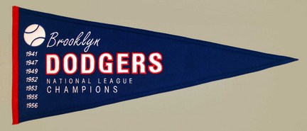 Brooklyn Dodgers MLB Cooperstown Collection Pennant from Winning Streak Sports