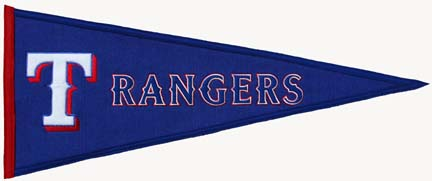 Texas Rangers MLB Traditions Collection Pennant from Winning Streak Sports