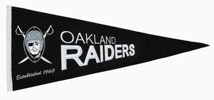 Oakland Raiders NFL Throwback Collection Pennant from Winning Streak Sports