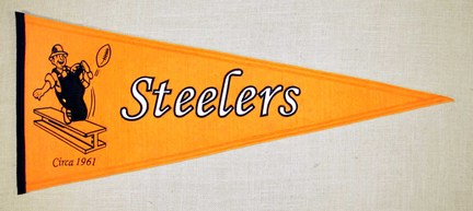 Pittsburgh Steelers NFL Throwback Collection Pennant from Winning Streak Sports