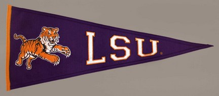 Louisiana State (LSU) Tigers NCAA Traditions Collection Pennant from Winning Streak Sports