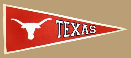 Texas Longhorns NCAA Traditions Collection Pennant from Winning Streak Sports
