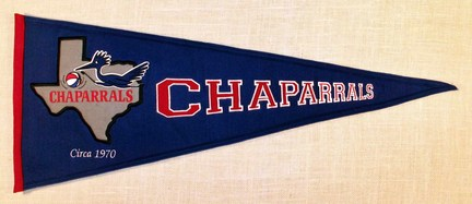 Dallas Chaparrals ABA Hardwood Traditions Collection Pennant from Winning Streak Sports