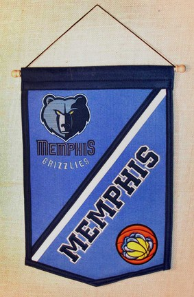 "Memphis Grizzlies 12"" x 18"" NBA Traditions Banner from Winning Streak Sports"