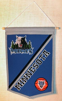 "Minnesota Timberwolves 12"""" x 18"""" NBA Traditions Banner from Winning Streak Sports"" WS-66970"