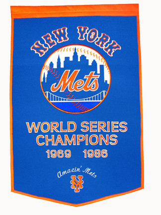 "New York Mets 24"" x 36"" MLB Dynasty Banner from Winning Streak Sports"