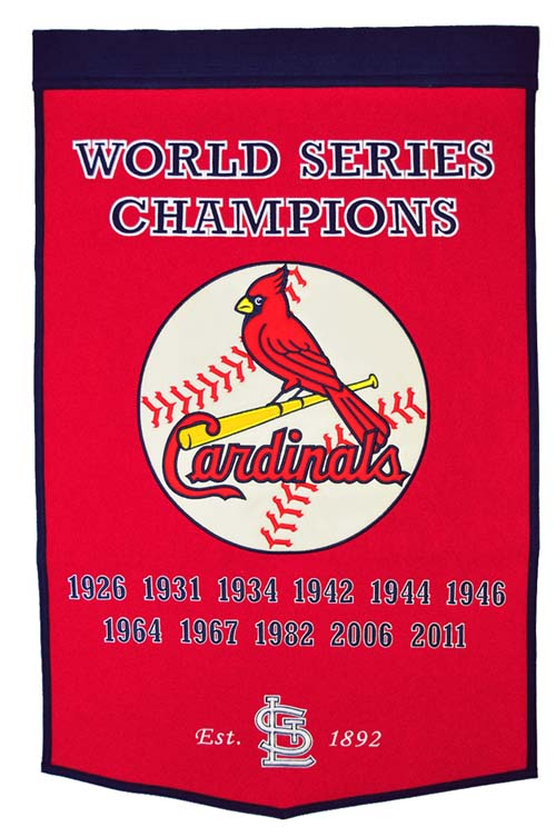 """St. Louis Cardinals World Series Champions Dynasty Collection 24"""" x 36"""" Banner from Winning Streak Sports"""