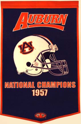 "Auburn Tigers 24"" x 36"" NCAA Football Dynasty Banner from Winning Streak Sports"
