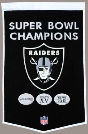 "Oakland Raiders 24"" x 36"" NFL Dynasty Banner from Winning Streak Sports"