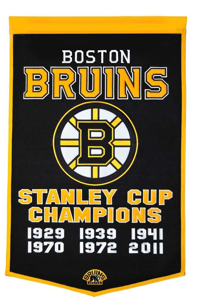 "Boston Bruins 24"" x 36"" NHL Dynasty Banner from Winning Streak Sports"