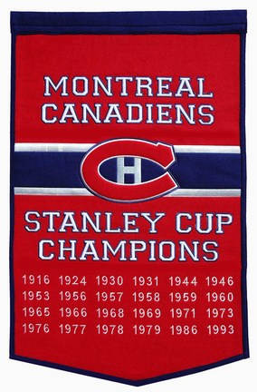 "Montreal Canadiens 24"" x 36"" NHL Dynasty Banner from Winning Streak Sports"