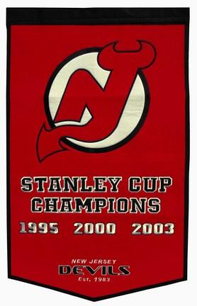 "New Jersey Devils 24"" x 36"" NHL Dynasty Banner from Winning Streak Sports"