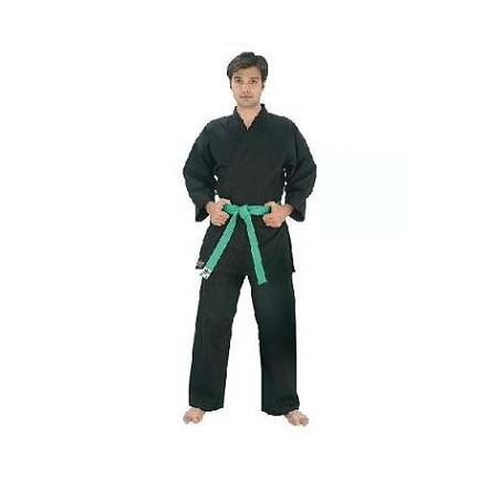 Black Fighter Plus Karate Middle Weight Uniform (Size 000) from Starpak