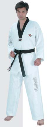 White / Black Lapel Ultima Taekwondo Uniform (Size 7) from Starpak